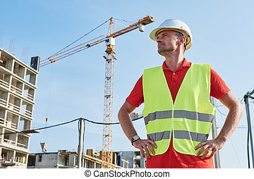 construction worker at building area