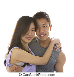 Young Adult Couple Showing happiness being together