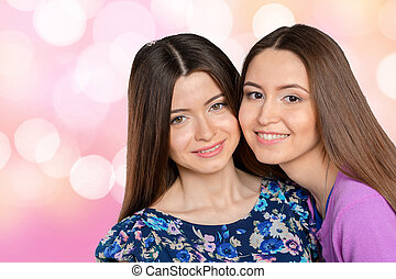 Young Adult Mixed Race Sisters/ Friends