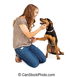 Young Adult Shelter Volunteer - A young adult female animal ...