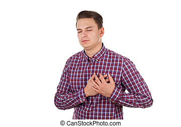 Young adult with chest pain