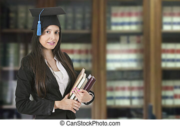 Young adult woman graduate