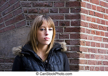 Young Adult Woman with Blond Hair - Young Adult Caucasian...