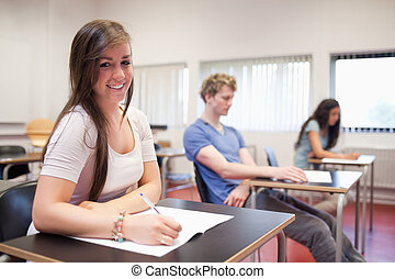 Young adults studying in a classroom