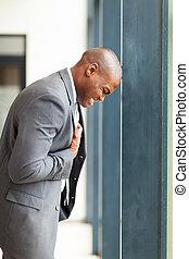african american businessman depression