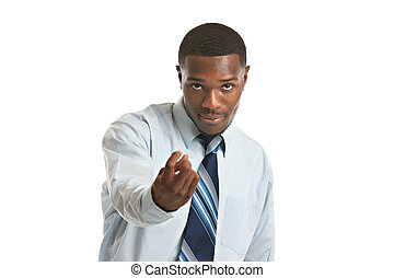 Young African American Businessman Isolated