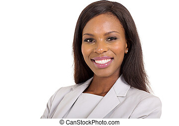 young african american businesswoman close up