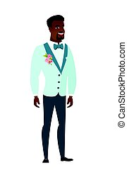 Young african-american happy groom.
