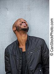 Young african american man enjoying life