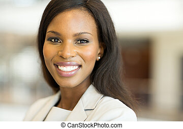 young african american woman close up