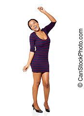 young african american woman dancing