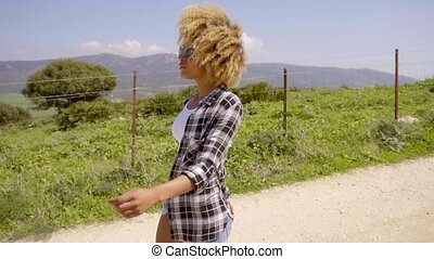Young African-American Woman Outdoor