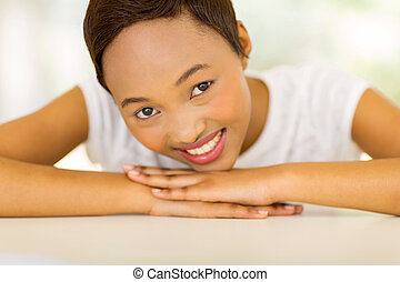 young african american woman relaxing