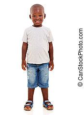 young african boy standing - happy young african boy...