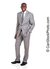 young african businessman full length portrait