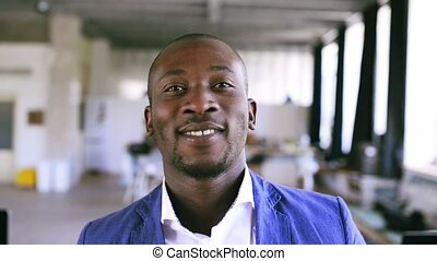 Young African businessman in the office. - Young African...