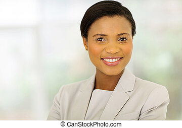 young african businesswoman in office