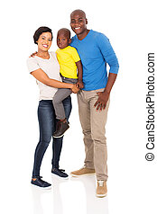 young african family full length