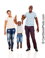 young african family having fun - young african happy family...