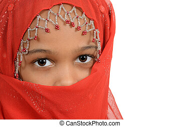 Young african girl wearing a scarf