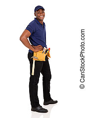 young african handyman