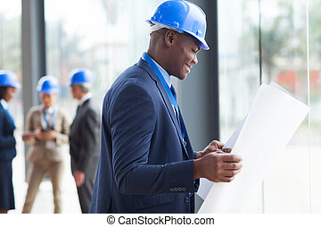 young african male architect