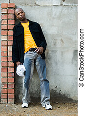 young african man - Young African man dressed casual. All ...