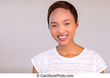 young african woman looking at the camera