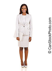 young afro american businesswoman holding laptop computer