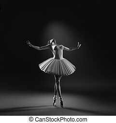 Young and beautiful ballerina
