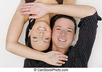 couple - young and beautiful couple have fun together