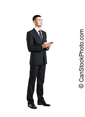 Young and confident business man with a telephone - Young...