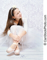 Young and cute ballet dancer