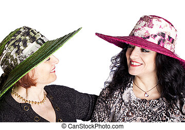 Young And Senior Women With Hat