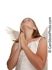 young angel girl praying