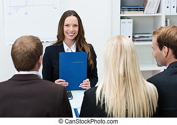 Young applicant at a job interview