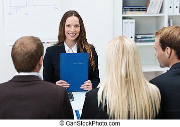 Young applicant at a job interview