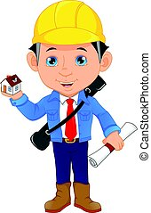 young architect cartoon