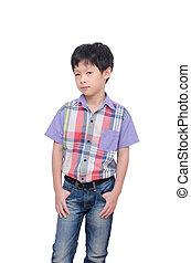 boy isolated on white