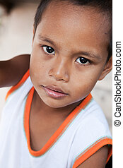 Young Asian boy portrait