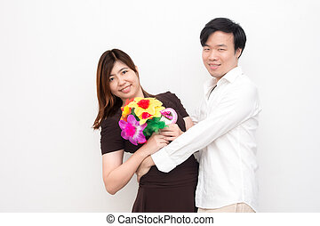 Young Asian Couple on Valentine's Day
