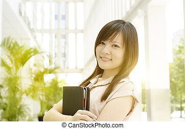 Young Asian female executive portrait