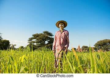 Young Asian female farmer