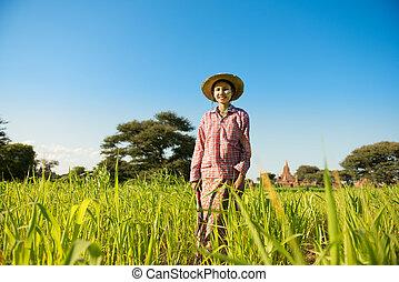 Young Asian female farmer