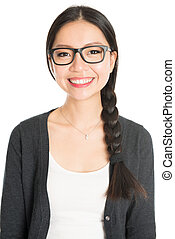 Young Asian female headshot