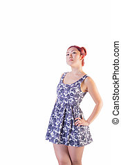 Young Asian Female In Short Dress