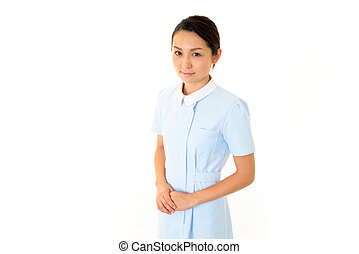 Young asian female nurse