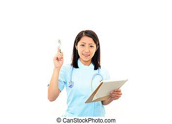 Young asian female nurse
