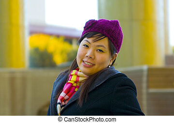 Young Asian Girl In Winter Clothes 3