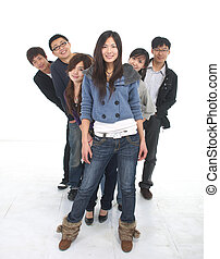 young Asian group